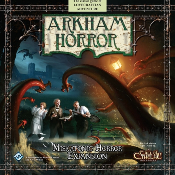 Настольная игра Ужас Аркхэма расширение: Ужас Мискатоника / Arkham Horror: Miskatonic Horror